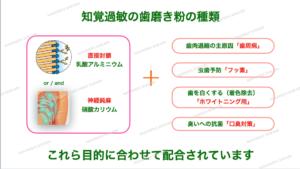 知覚過敏の歯磨き粉の種類・成分について